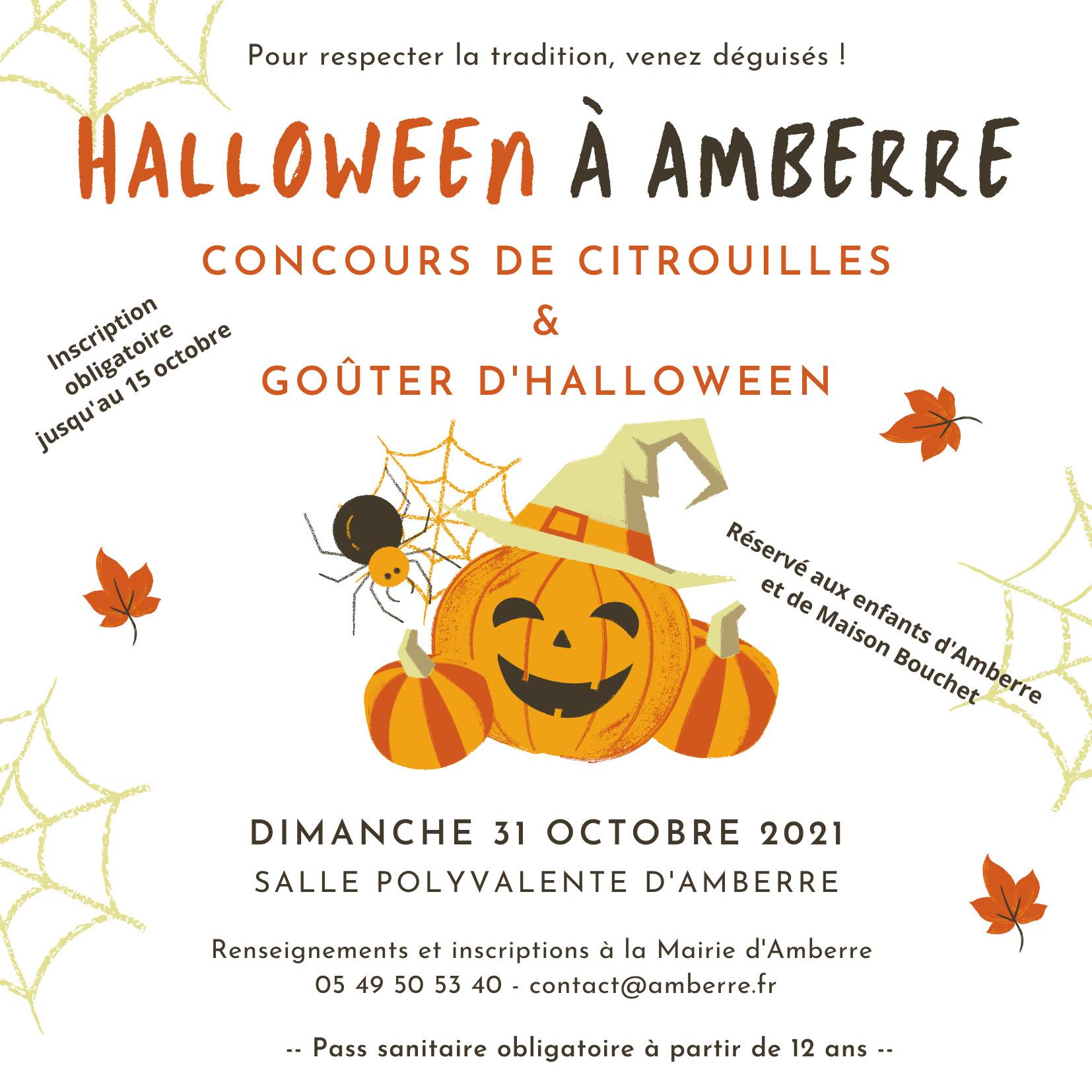 Affiche Halloween site web